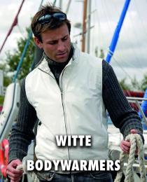 Witte bodywarmer