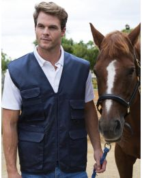 Gewatteerde Bodywarmer Safari Waistcoat Heren