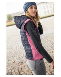 James & Nicholson Knitted Hybrid bodywarmer dames