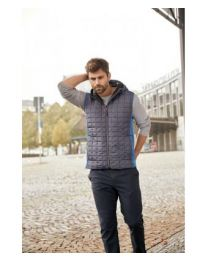 James & Nicholson Knitted Hybrid bodywarmer Heren